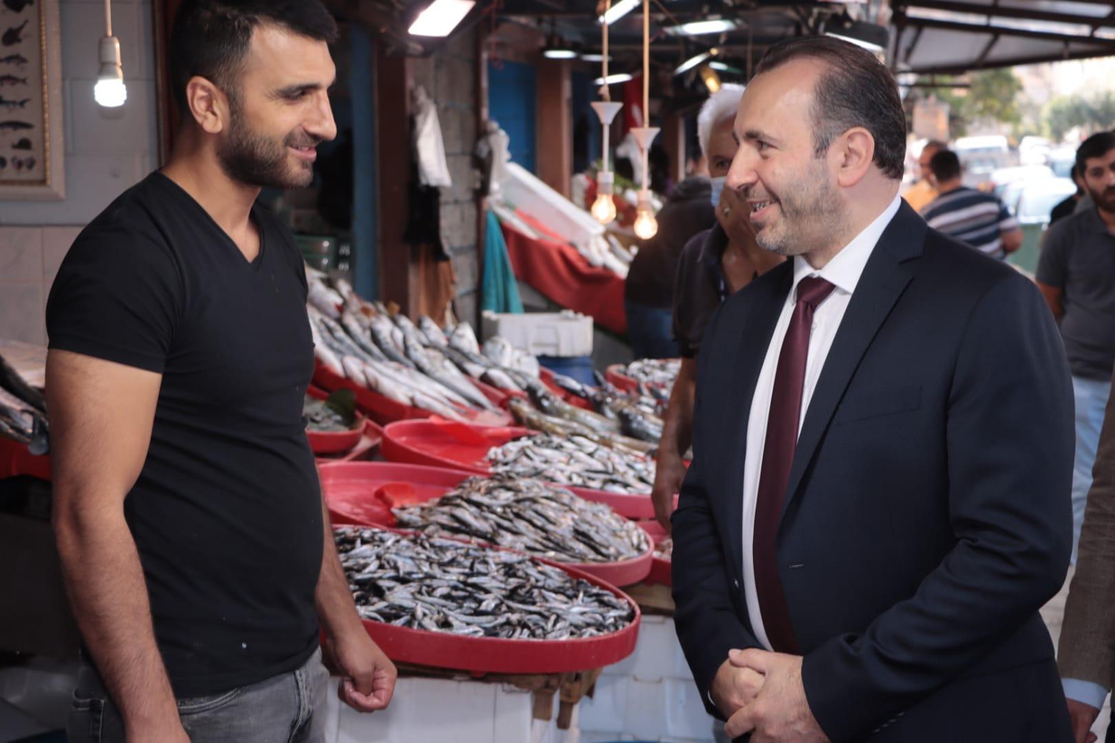 """BAŞKAN VEKİLİ TUTUK """"BALIK PAZARINDA SORUNU ÇÖZDÜK"""""""