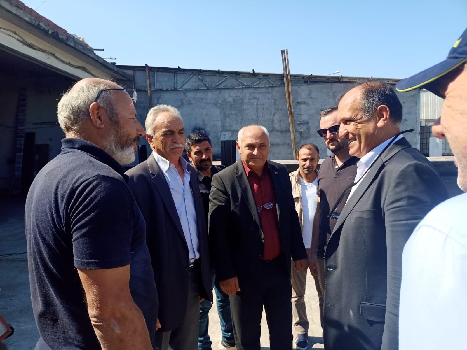 MHP'DEN SANAYİ ESNAFINA ZİYARET